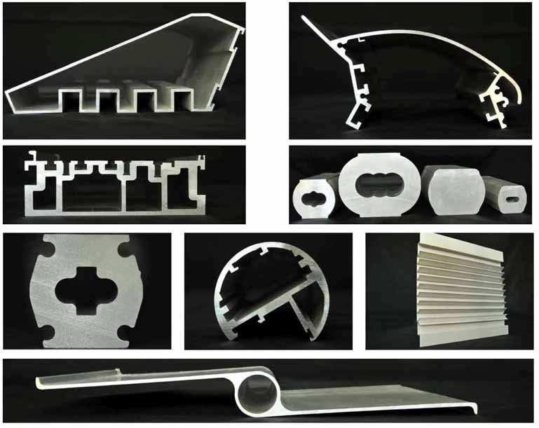 Strangpressprofile aus Aluminium der Firma Çuhadaroğlu Metal San. ve Pazarlama A.S.