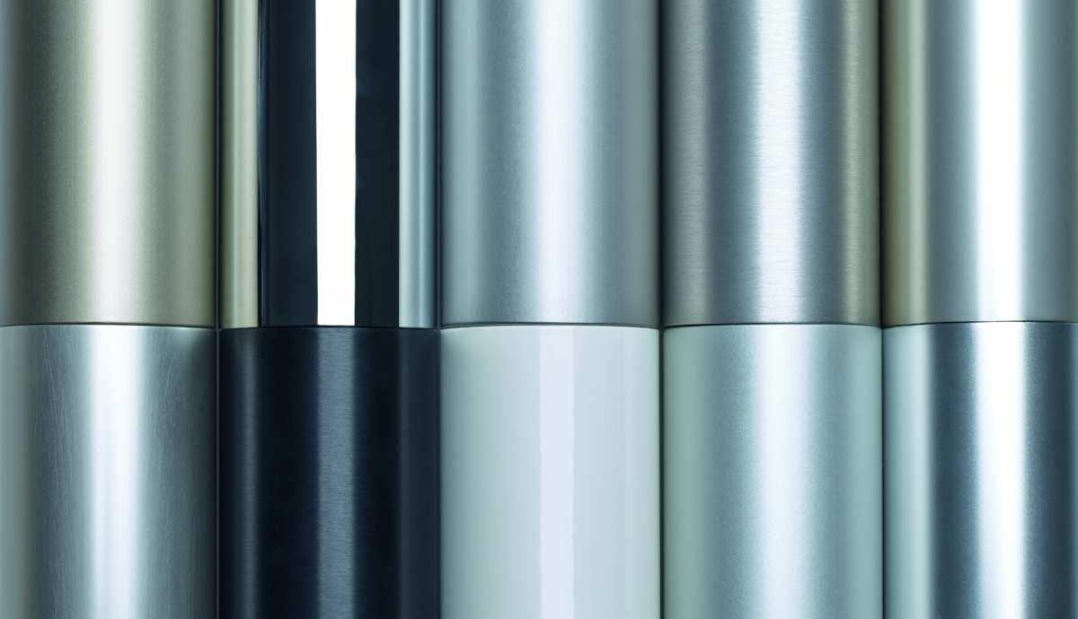 Eloxieren - Farb-und Oberflächenvarianten der Firma Schüco International KG