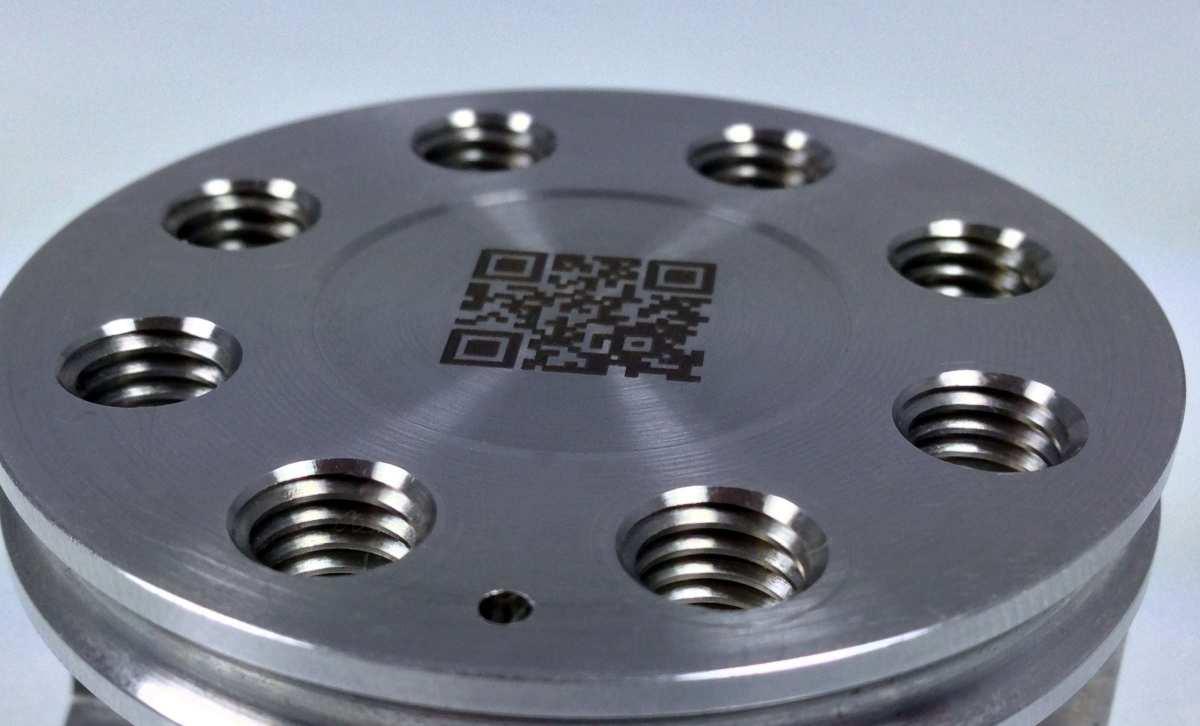 QR-Code Laserbeschriftung der Firma Gebr. Hohl GmbH