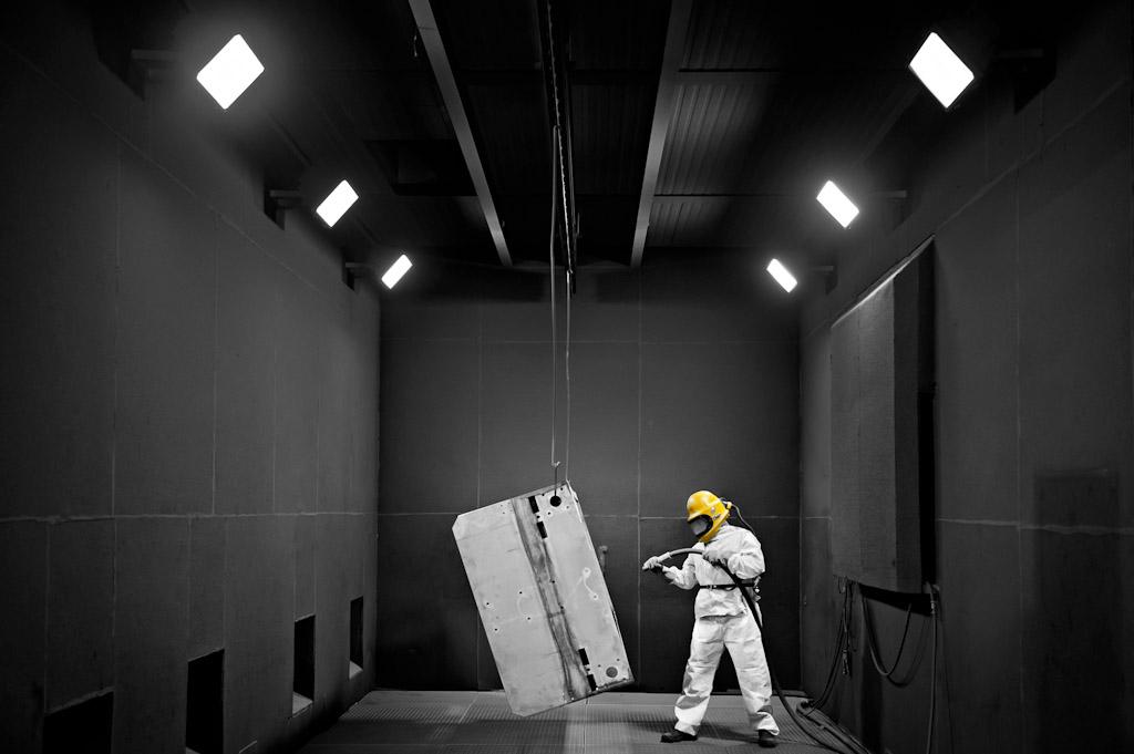 Sandstrahlanlage der Firma Kaupp GmbH