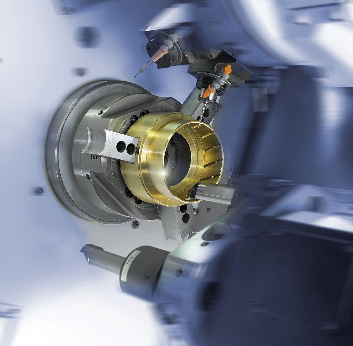 4-Achs-Drehmaschine der Firma Caspar Gleitlager GmbH